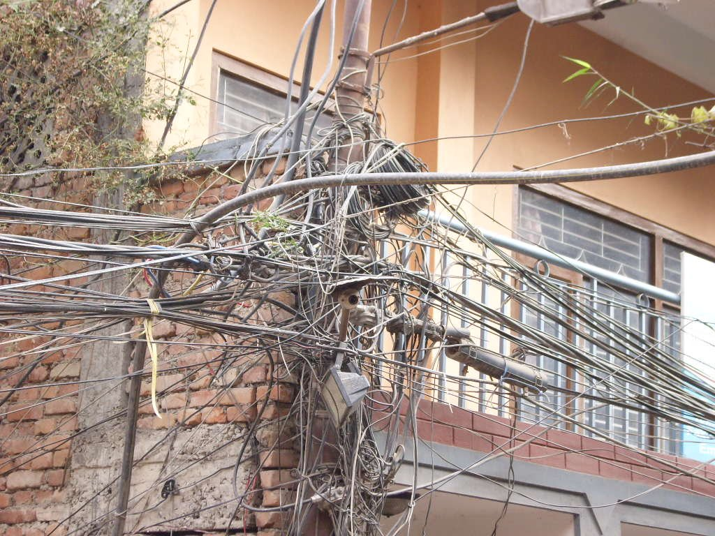 Junction box in Nepal :-) - Highslide JS